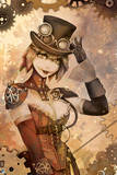 Batman: Steam Punk Style Harley Quinn with Top Hat and Gloves Print