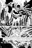 Batman: Batman Panels - Through the City, in Black and White Poster