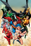 Justice League: the Justice League Charging, Poster