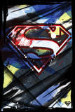 Superman: Superman Logo in the Style of an Abstract Painting with Black Border Photo