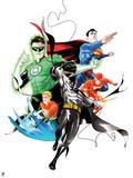 Justice League: Batman, Green Lantern, Flash, Aquaman, and Superman Photo
