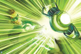 Green Lantern: Green Lantern with Ring in Action Pose Print
