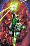 Green Lantern: Green Lantern with Villain (Color) Prints
