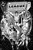 Justice League: Justice League America No 217 (Black and White) Prints