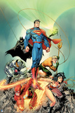Justice League: Superman, Wonder Woman, Green Lantern, Batman, Aquaman, Cyborg, Batman and Flash Posters