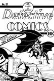 DC Originals: Batman No. 27 Old Comic Cover - Detective Comics with Batman Poster