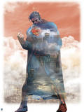 DC Superman Comics: City Silhouettes Poster