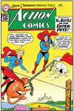 "Superman: Action Comics - Superman, Supergirl, Streaky, Krypto in ""The Battle of the Super-Pets!"" Photo"