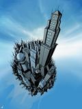 Superman: Metropolis Birds Eye View Poster