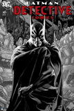 Batman: Cover Batman Standing with Cape Wrapped around Him in Room Full of Machines Posters