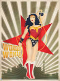 DC Wonder Woman Comics: New Constructivism Poster