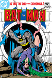 Batman: Cover Batman Holding Catwoman Who Is Unconscious Coming Out of a Smoking Sewer Pipe Prints