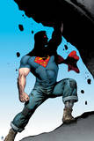 Superman: Superman Demonstrating His Outstanding Strength in Jeans, Boots and Shadow Prints