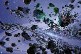 Green Lantern: Asteroids in Space Photo