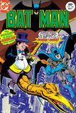 Batman: Cover the Penguin Riding on a Dinosaur Shooting at Batman Prints
