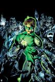 Green Lantern: Green Lantern Surrounded by Enemies (Color) Print