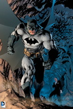 Batman: Batman Walking Powerfully, Bats Fly Behind Poster