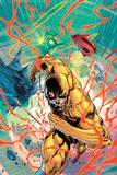 Justice League: the Reverse Flash Blasts Through the Emblems of the Justice League Prints