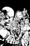 Green Lantern: Blackest Night Comic Cover (Black and White) Poster
