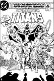 Justice League: the New Teen Titans No 1 (Black and White) Posters