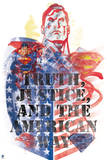 Superman: Superman Stencil Art - Truth, Justice and the American Way Posters