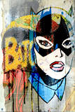 Batman: Batman and Catwoman Combination with Pop Art Look Close Up of Catwoman Posters