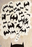 Batman: Poster with Top of Batman's Ears and Thought Bubble with Bats in It Poster