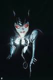 Batman: Catwoman Cover Art Close Up All Black with Face Lit by Diamond She Is Holding Print