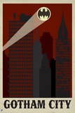 Gotham City Travel Poster Prints