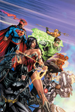 DC Justice League Comics: Comic Book Covers Prints