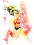 DC Wonder Woman Comics: Watercolor Design Posters