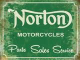 Norton Garage Green Plaque en métal