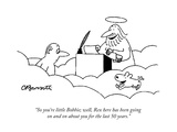 """So you're little Bobbie; well, Rex here has been going on and on about yo…"" - Cartoon Premium Giclee Print by Charles Barsotti"