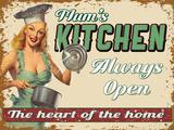Mums Kitchen Plaque en métal