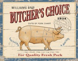 Butchers Choice Cartel de madera
