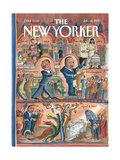 The New Yorker Cover - January 18, 1999 Regular Giclee Print by Edward Sorel
