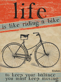Riding a Bike Cartel de chapa