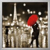 A Paris Kiss Framed Giclee Print by Kate Carrigan