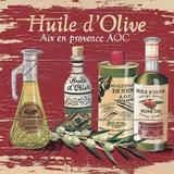 Huile D'Olive Cartel de madera