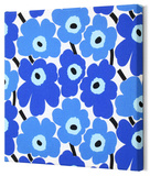 Marimekko®  Mini-Unikko Fabric Panel - Blue 13x13 Stretched Fabric Panel