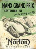 Norton Manx Grand Prix September 1966 Plaque en métal