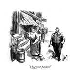 """I beg your pardon!"" - New Yorker Cartoon Premium Giclee Print by William Steig"