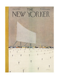 The New Yorker Cover - January 9, 1960 Premium Giclee Print by 0 Alain
