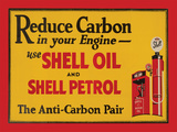 Shell Reduce Carbon Carteles metálicos