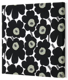 Marimekko® Mini-Unikko Fabric Panel - Black 13x13 Stretched Fabric Panel