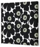 Marimekko® Mini-Unikko Fabric Panel - Black 13x13 Stretched Fabric Panel