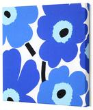Marimekko®  Unikko Fabric Panel - Blue Pieni 15x15 Stretched Fabric Panel