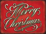 Merry Christmas - Metal Tabela