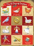 12 Days of Christmas Blikskilt