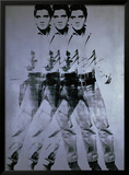 Triple Elvis, 1963 Framed Giclee Print by Andy Warhol
